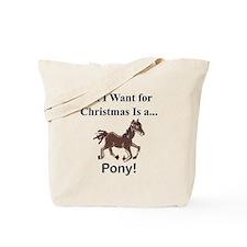 Christmas Pony Tote Bag