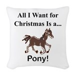 Christmas Pony Woven Throw Pillow