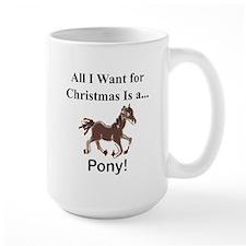 Christmas Pony Mug