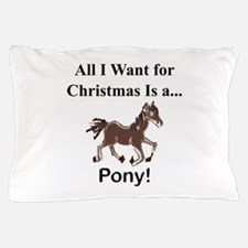 Christmas Pony Pillow Case