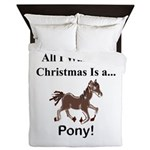 Christmas Pony Queen Duvet