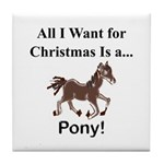 Christmas Pony Tile Coaster