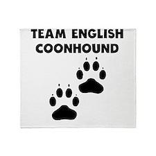 Team English Coonhound Throw Blanket