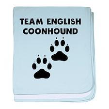 Team English Coonhound baby blanket