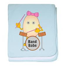 Band Babe Drummer baby blanket