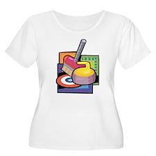 Curling Plus Size T-Shirt