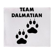 Team Dalmatian Throw Blanket