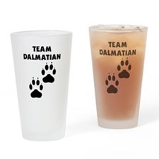 Team Dalmatian Drinking Glass