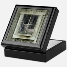 Old Cabin Window Buck 1 Keepsake Box