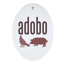 Adobo Oval Ornament