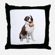 St Bernard (keg) Throw Pillow