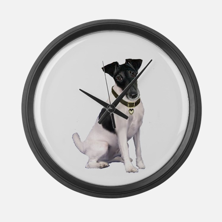 Smooth Fox T - (bw) Large Wall Clock