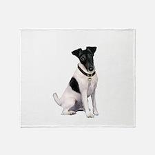 Smooth Fox T - (bw) Throw Blanket