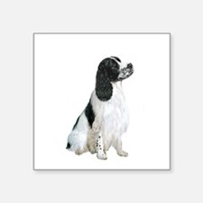 "English Springer 1 Square Sticker 3"" x 3"""