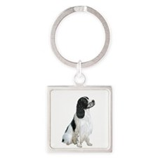 English Springer 1 Square Keychain