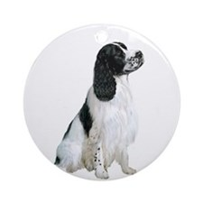 English Springer 1 Ornament (Round)