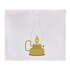 Camping Lantern Throw Blanket