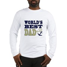 World's Best Dad Heart Anchor Long Sleeve T-Shirt