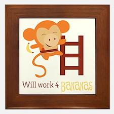 Work For Bananas Framed Tile