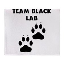 Team Black Lab Throw Blanket