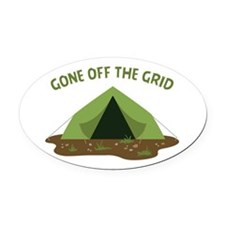Neck Of The Woods Oval Car Magnet