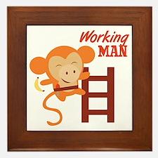 Working Man Framed Tile