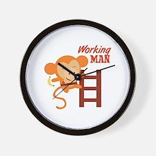 Working Man Wall Clock