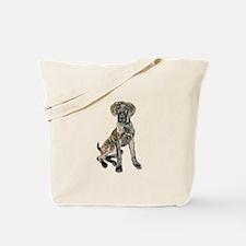 Brindle Great Dane Pup Tote Bag