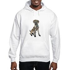 Brindle Great Dane Pup Hoodie