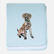 Brindle Great Dane Pup baby blanket