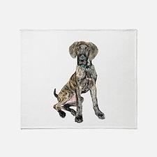 Brindle Great Dane Pup Throw Blanket