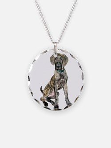 Brindle Great Dane Pup Necklace