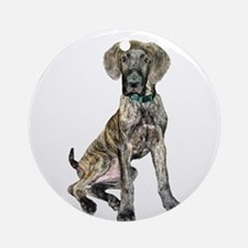 Brindle Great Dane Pup Ornament (Round)