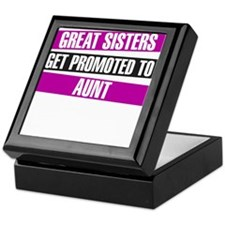 Great Sisters Get Promoted To Aunt Keepsake Box