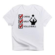 Crawl Walk Volleyball Infant T-Shirt