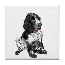 Eng. Springer Pup (bw) Tile Coaster