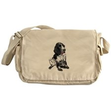 Eng. Springer Pup (bw) Messenger Bag