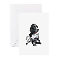 Eng. Springer Pup (bw) Greeting Cards (Pk of 10)