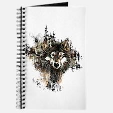 Watercolor Wolf Mountain Art Journal