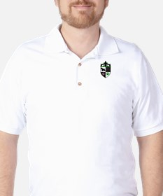 Green and Pink Westie Crest T-Shirt