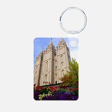 Springtime Salt Lake Temple Keychains