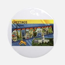 Greetings from California Ornament (Round)