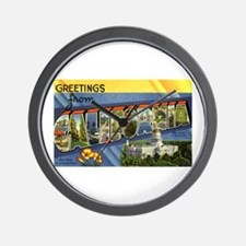 Greetings from California Wall Clock