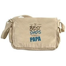 Great Dads Get Promoted to Papa Messenger Bag