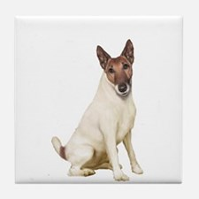 Fox Terrier (brwn-w) Tile Coaster