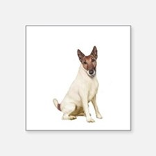 "Fox Terrier (brwn-w) Square Sticker 3"" x 3"""