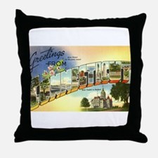 Greetings from Connecticut Throw Pillow