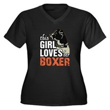 This Girl Loves Her Boxer Plus Size T-Shirt