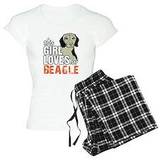 This Girl Loves Her Beagle Pajamas
