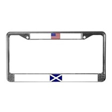 Flags of Scotland & USA License Plate Frame
